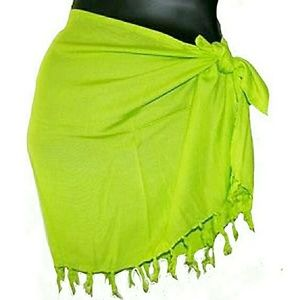 Other - BRIGHT GREEN SARONG PAREO SCARF WRAP COVER UP
